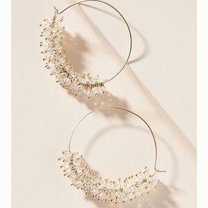 Anthro Sybil Hoop Earrings - White